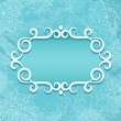 Vintage blue background with banner. — Stock Vector