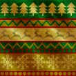 Seamless pattern with traditional Christmas symbols, vintage style. — Imagen vectorial