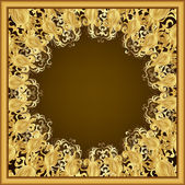 Ornate gold frame — Stock Vector