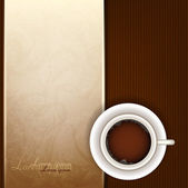 Cup of coffee, top view — Stock Vector