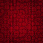 Seamless floral pattern on a red background — Stock Vector