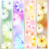 A set of colorful cards with floral design. — Stock Vector