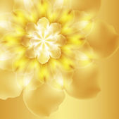 Bright yellow flower realistic — Stock Vector