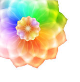 Rainbow flower isolated on a white background. — Stok Vektör