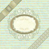O conjunto original de itens antigos no fundo sem emenda, cartão postal para o dia do seu casamento — Vetor de Stock