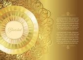 Gold Christmas or wedding card — Stock Vector