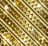 Glänzend goldenen festlich Hintergrund — Stockvektor