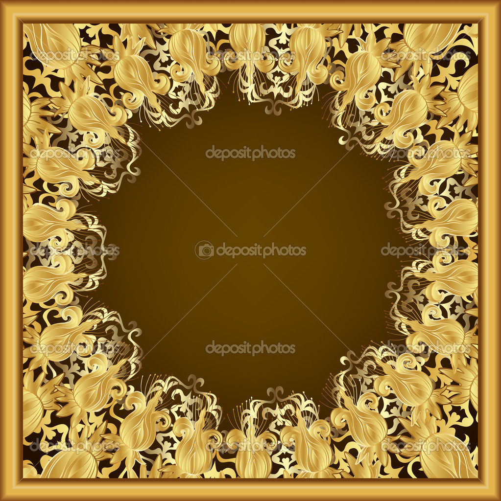 Twitter Facebook Pinterest Google PlusOrnate Gold Frame Vector