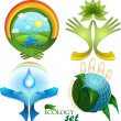 Ecological design, a set of icons, each element is isolated on a separate layer — Stock Vector #31150171