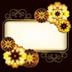 Showy golden flowers — Stock Vector #31150799
