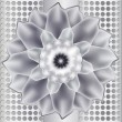 Silver flower — Stock Vector