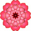Stock Vector: Pink flower isolated on white background
