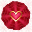 Red rose with hearts — Stock Vector