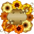 Golden floral frame — Stockvectorbeeld