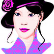Girl in hat — Stock Vector