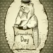 Stock Vector: groundhog day