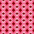 Pink seamless pattern with hearts and leaves. — Stock vektor