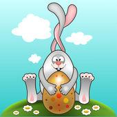 Easter bunny Paskalya kartı — Stok Vektör