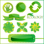 A set of ecological elements, icons, symbols — Vector de stock