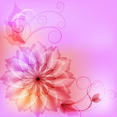 Beautiful abstract floral background — Stock Vector