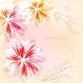 Very nice card for the wedding day — Stock Vector