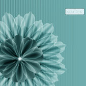 Delicate flower on a striped background, celadon — Stock Vector