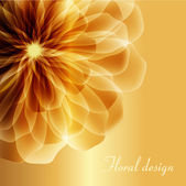 The Golden flower — Stock Vector