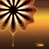 Abstract chocolate flower — Vector de stock