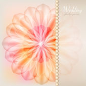 Gentle greeting card with a floral design — Stock Vector