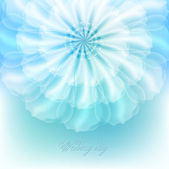 Beautiful flower for wedding invitations. — Stock Vector