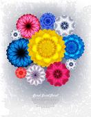 Bright bouquet birthday. — Stock Vector