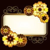 Showy golden flowers — Stock Vector