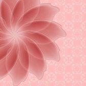 ピンクの花 — ストックベクタ