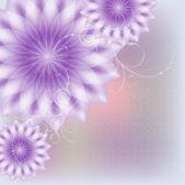 Purple flowers with monograms. — Stock Vector
