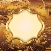 Monogram ile altın çerçeve — Stok Vektör
