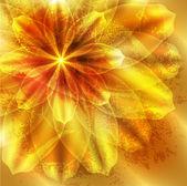 Orange flower on grunge background — Stock Vector