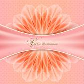 Krásná květina s saténová stuha — Stock vektor