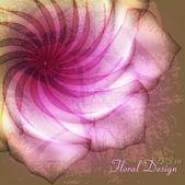 Flower on grunge background — Stock Vector