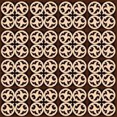 Geometrische patroon met florale elementen — Stockvector