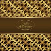 Lyx guld prydnad — Stockvektor