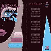 Makeup model — Stock Vector