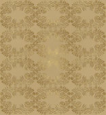 Seamless floral pattern with gilt — Stock Vector