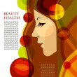 Profile of a woman, health, beauty — Stock Vector