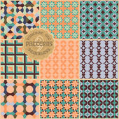 9 seamless pattern in vintage style — Stock Vector