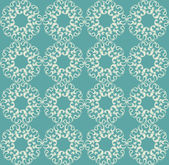 Seamless wallpaper with abstract floral patterns. — Vetor de Stock