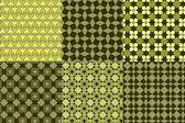 Sześć wzorów odcieni zieleni — Wektor stockowy