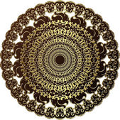 Ancient gold disc — 图库矢量图片
