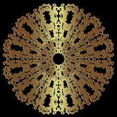 Antique gold disc — Stock Vector