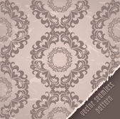 Vintage seamless pattern wallpaper beige — Stock Vector