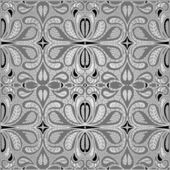 Beautiful black and white seamless pattern with classical ornamentation — Stock Vector